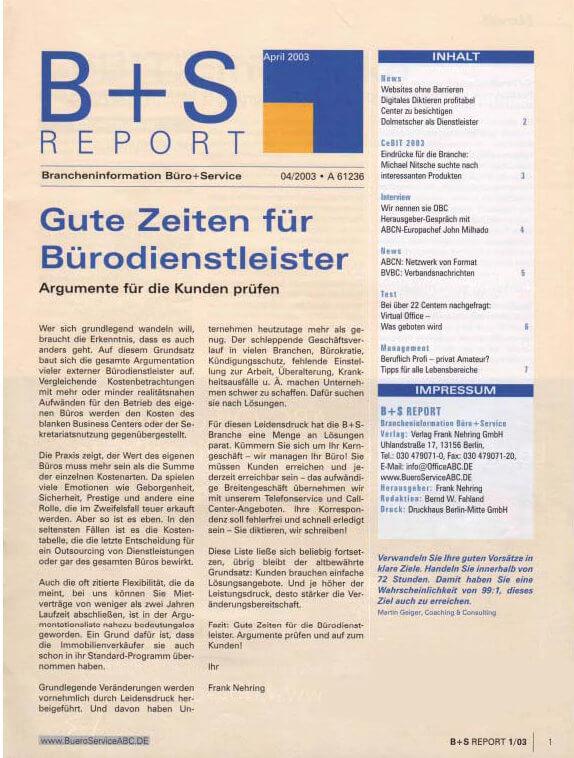 B+S Report