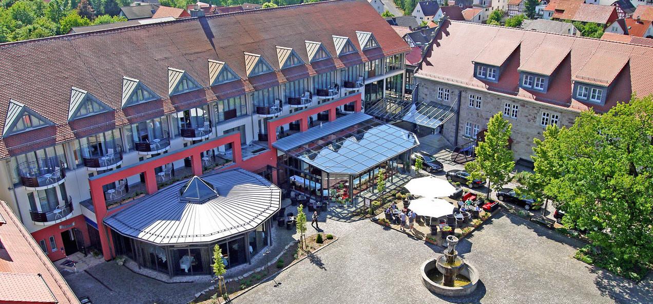 Luftaufnahme von Göbels Schlosshotel