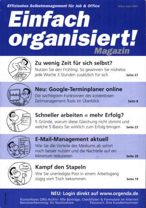 Einfach organisiert!
