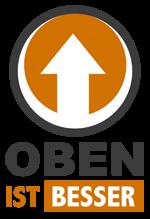 Logo - Oben ist besser